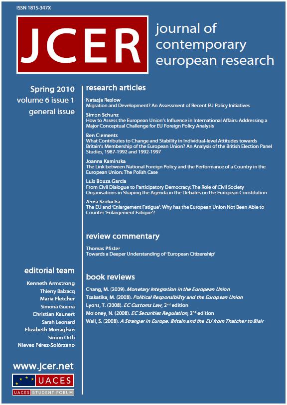 JCER volume 6 issue 1 cover